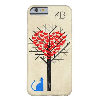 """De los """"corazón pájaros del amor de los gatos"""" del funda para iPhone 6 barely there"""