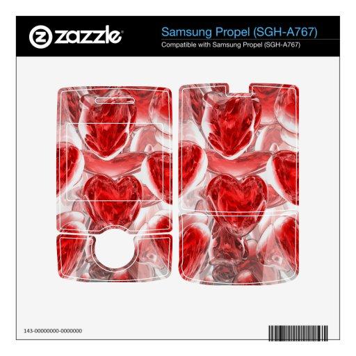 De los corazones extracto Afire Samsung Propel Skin