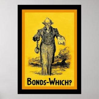 ¿~ de los enlaces que? Guerra mundial del vintage  Poster