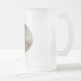 De los faisanes gran caza en alto - en la granja taza cristal mate
