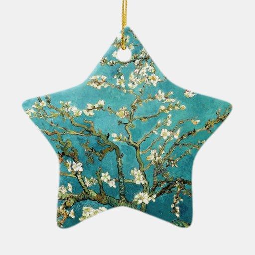 ~ de los flores de la almendra del ~ de Van Gogh Adorno De Cerámica En Forma De Estrella