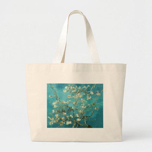 ~ de los flores de la almendra del ~ de Van Gogh p Bolsas De Mano
