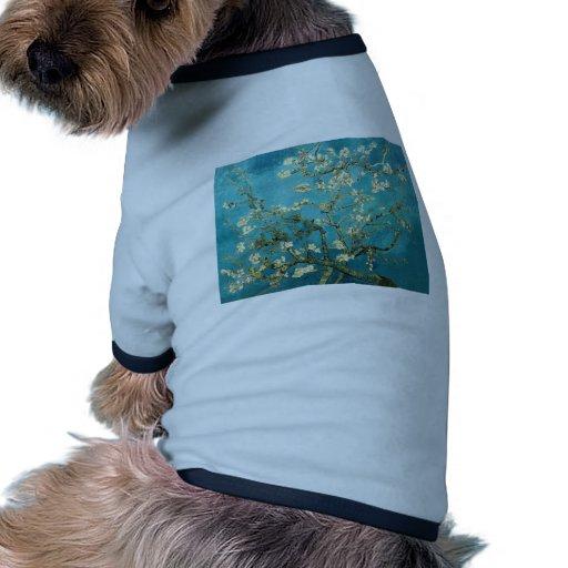 ~ de los flores de la almendra del ~ de Van Gogh p Camiseta Con Mangas Para Perro
