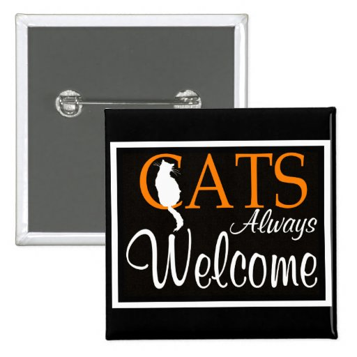 De los gatos signo positivo siempre pin cuadrada 5 cm