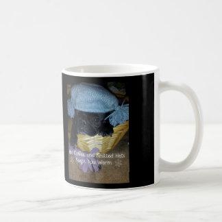 """De los gorras hechos punto de Pugz taza del """"café"""