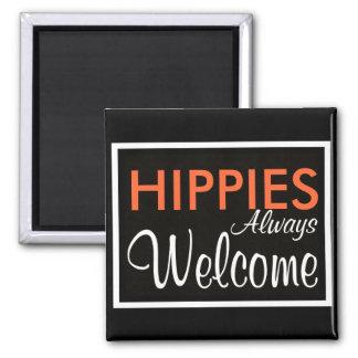 De los HIPPIES recepción siempre Imán Cuadrado