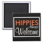 De los HIPPIES recepción siempre Imanes De Nevera