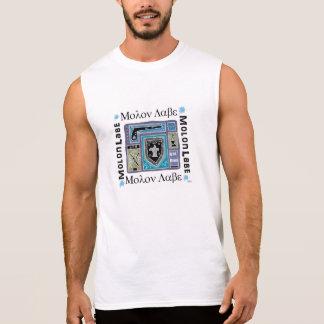 De los hombres camiseta sin mangas Molon Labe del