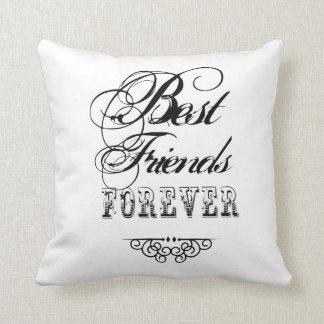 De los mejores amigos almohada de tiro para siempr