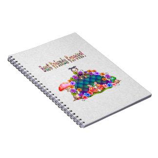 De los mejores amigos arte del pixel para siempre cuadernos