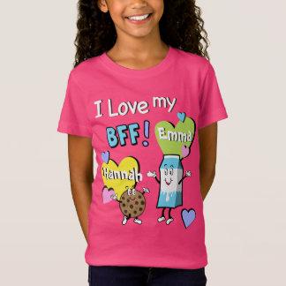 De los mejores amigos camiseta de Bff de los