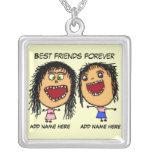 De los mejores amigos dibujo animado para siempre pendientes