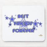 De los mejores amigos estrellas azules del amarill tapetes de ratón