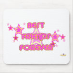 De los mejores amigos estrellas rosadas del amaril alfombrillas de ratón