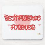De los mejores amigos Lt rojo Hearts para siempre Alfombrillas De Ratones