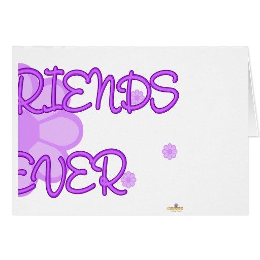 De los mejores amigos parte púrpura 2 de Lt Flower Tarjeta De Felicitación