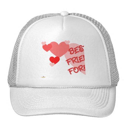 De los mejores amigos parte roja 1 de los corazone gorras de camionero