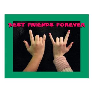 De los mejores amigos postal para siempre