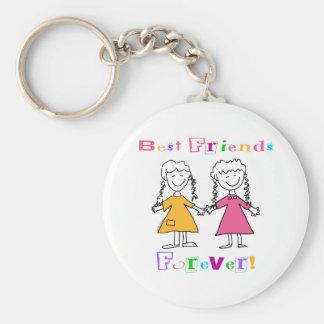 De los mejores amigos regalos para siempre BFF Llavero Redondo Tipo Pin
