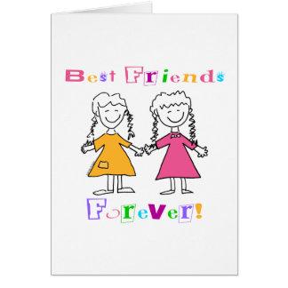De los mejores amigos regalos para siempre BFF Felicitación