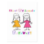De los mejores amigos regalos para siempre BFF Tarjeta Postal