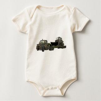 De los militares dibujo animado del plano de la body para bebé