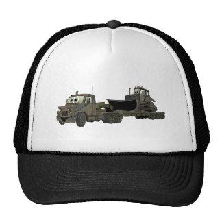 De los militares dibujo animado del plano de la ni gorras de camionero