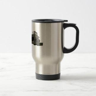 De los militares dibujo animado del plano de la ni taza de café
