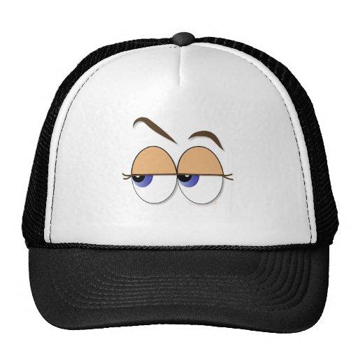 De los ojos globos del ojo sospechosos del vistazo gorras