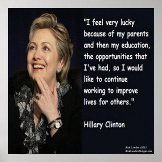 De los padres de Hillary Clinton poster de la cita