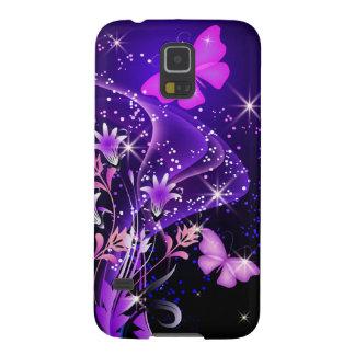 De los pares de las mariposas galaxia púrpura S5 Carcasa Para Galaxy S5