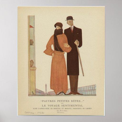 ~ de los pares del art déco de los años 20 el viaj poster
