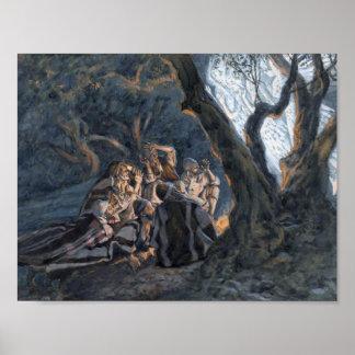 De los pastores de Tissot el poster del ángel y