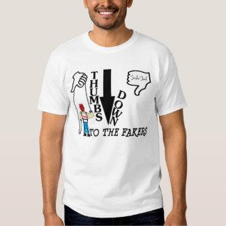 De los pulgares camiseta abajo (hombres) playeras