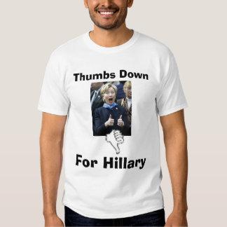 De los pulgares camiseta de Hillary abajo Playera