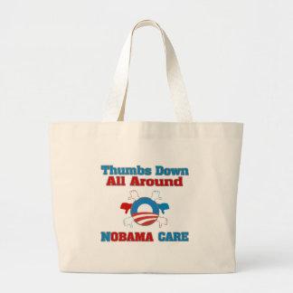 De los pulgares cuidado de NObama abajo Bolsas De Mano