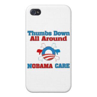 De los pulgares cuidado de NObama abajo iPhone 4 Protector