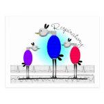 """De los """"regalos respiratorios pájaros de Ambu"""" de  Tarjeta Postal"""