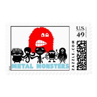"""De los """"sello monstruos del metal"""" de Rock=Life Sello Postal"""