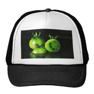 De los tomates verdes todavía de la imagen estudio gorras