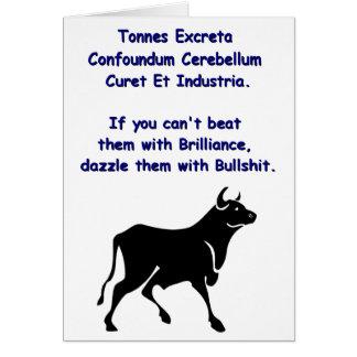 **** De los toros Tarjeta De Felicitación