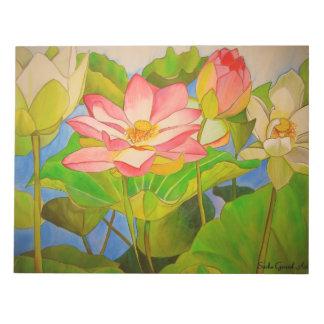 De Lotus del rosa pintura del arte de la acuarela  Blocs De Papel