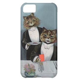 De Louis Wain del gato de la noche gatos lindos de Funda Para iPhone 5C