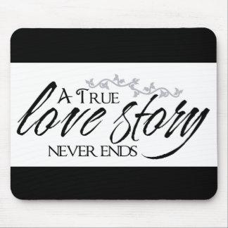 De Love Story un cojín de ratón verdadero de la ci Alfombrillas De Raton