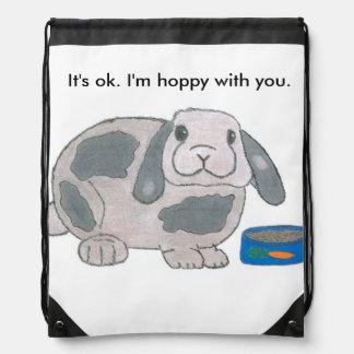 De lúpulo con usted mochila del lazo