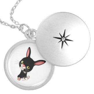 De lúpulo lindo el conejo de conejito negro collar redondo