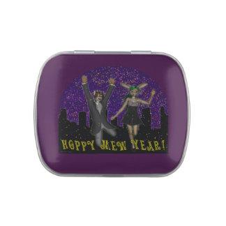 De lúpulo maúlla la lata del caramelo del año frascos de caramelos