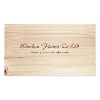 De madera tarjetas de visita