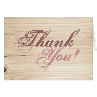 De madera tarjeta de felicitación