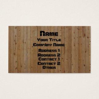 De madera y atornillado tarjeta de negocios